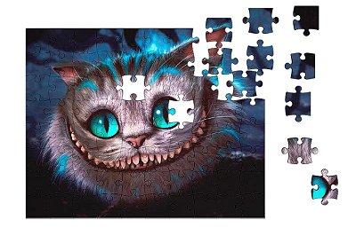 Quebra-Cabeça Alice no País das Maravilhas - Gato 90 pçs
