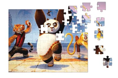 Quebra-Cabeça Kung Fu Pandar 90 pçs