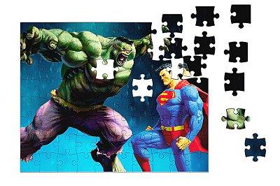 Quebra-Cabeça Hulk e Supermen pçs 90