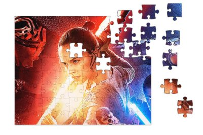 Quebra-Cabeça Star Wars - Rey  pçs 90