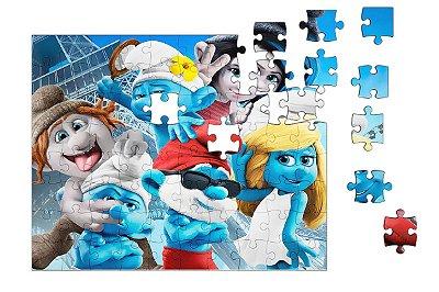 Quebra-Cabeça Os Smurfs 90 pçs