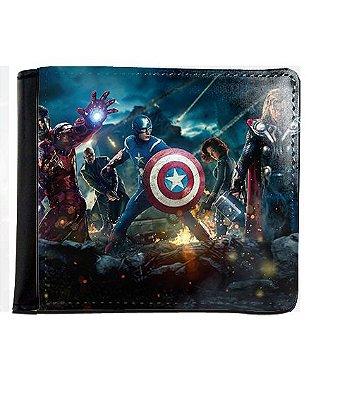 Carteira Os Vingadores - Capitão America, Homem de Ferro e Thor
