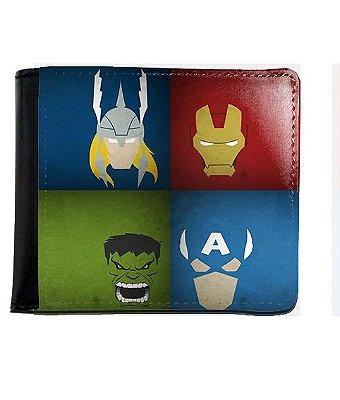 Carteira Thor, Homem de Ferro, Hulk e Capitão America