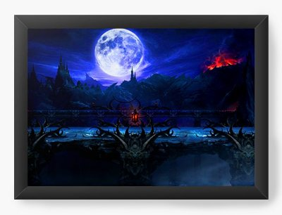 Quadro Decorativo Mortal Kombat X The Moon