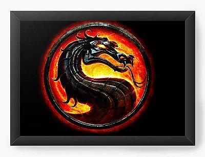Quadro Decorativo Mortal Combate X Simbolo
