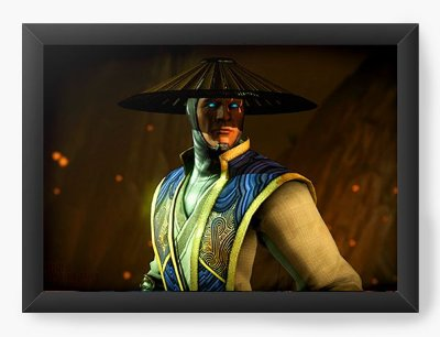 Quadro Decorativo Mortal Kombat X Raiden Wins