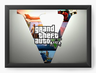 Quadro Decorativo Grand Theft Auto - Five version