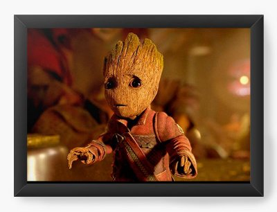 Quadro Decorativo Guardiões da Galáxia 2 - little groot