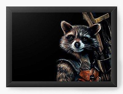 Quadro Decorativo Guardiões da Galáxia - Rocket Raccoon