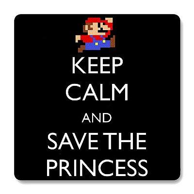 Imã de Geladeira Super Mario - Keep Calm