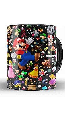 Caneca Super Mario Word