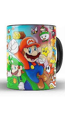 Caneca Super Mario Word e Luigi - Princensa