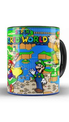 Caneca Super Mario Word - Maps