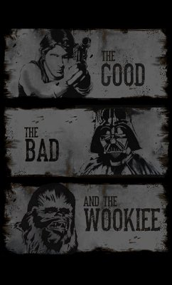 Camiseta Feminina  Star Wars The Good The Bad and The Wookiee