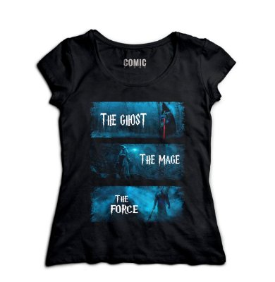 Camiseta Feminina The Lord of Rings The Ghost The Mage The Force
