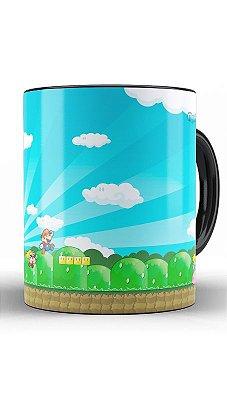 Caneca Super Mario Word e Princesa