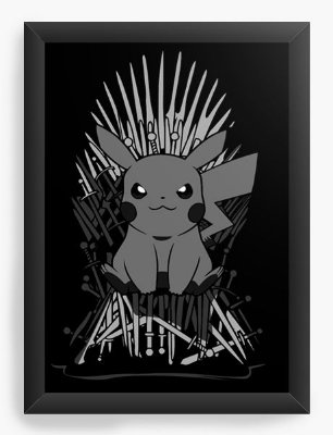 Quadro Decorativo Pokemon Thrones