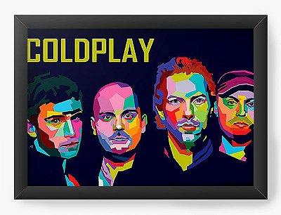 Quadro Decorativo Coldplay