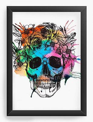 Quadro Decorativo Skull