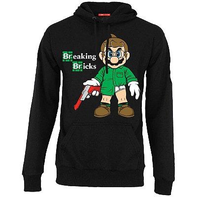 Blusa com Capuz Mario - Breaking Bricks