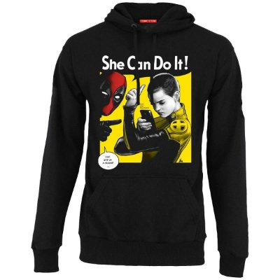 Blusa com Capuz Deadpool - She Can Do It