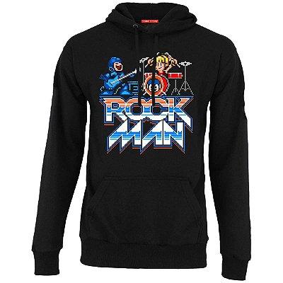 Blusa com Capuz Mega Men - Rock Man
