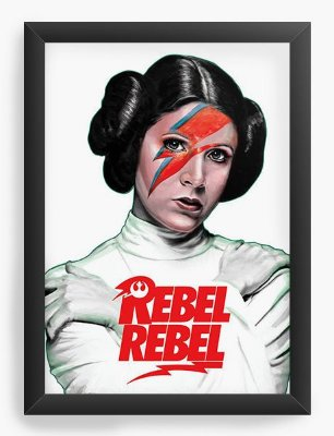 Quadro Decorativo Princesa Leia - Rebel