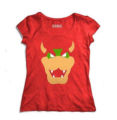 Camiseta Feminina Super Mario Bowser