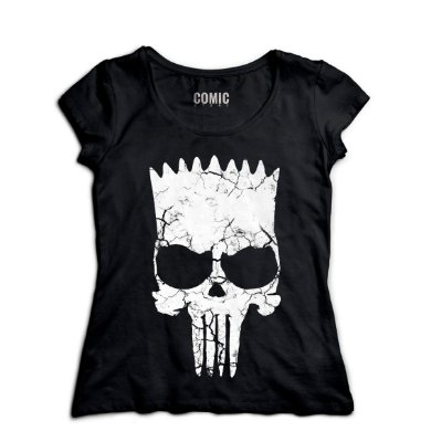 Camiseta Feminina Simpson Punisher