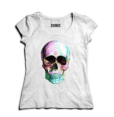 Camiseta Feminina Skull Colorful