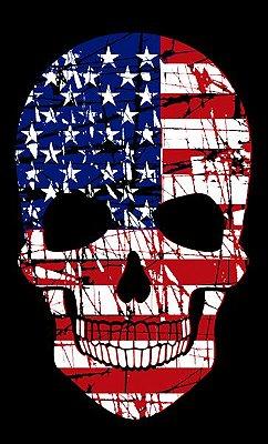 Camiseta Caveira Americana