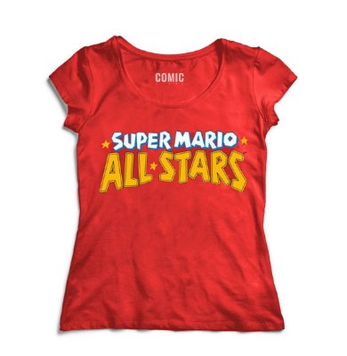 Camiseta Feminina Super Mario - All Star