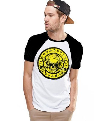 Camiseta Raglan King33 Skull Dead