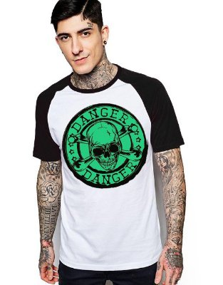 Camiseta Raglan King33 Skull Danger 1