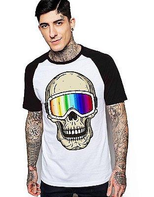 Camiseta Raglan King33 Skull 3D