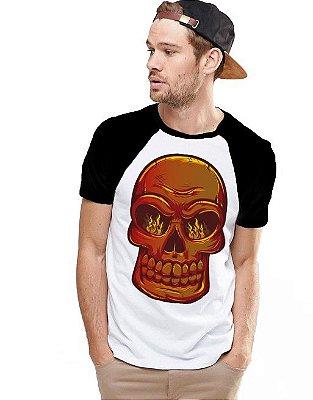 Camiseta Raglan King33 Skull Fire