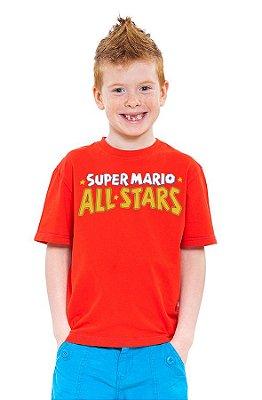 Camiseta Infantil Super Mario - All Stars