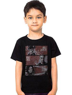 Camiseta Infantil Heisenberg e Jon Snow