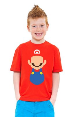 Camiseta Infantil Super Mario Word