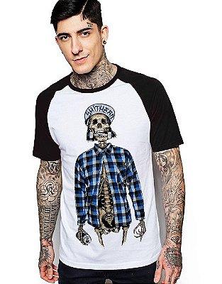 Camiseta Raglan King33 Skull Skate