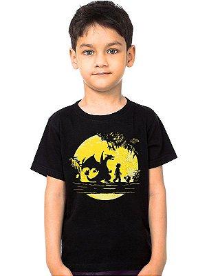 Camiseta Infantil Pokemon - Ash e Pikachu