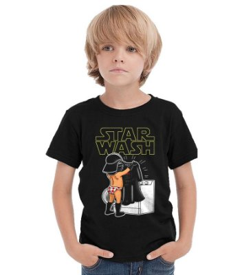 Camiseta Infantil Star Wars - Darth Vader Wash