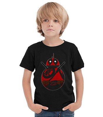 Camiseta Infantil Deadpool BB-8