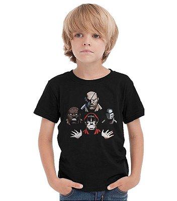 Camiseta Infantil Street Fighter Bohemian Rhapsody