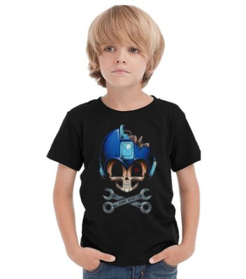 Camiseta Infantil Mega Man Game Over