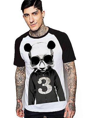 Camiseta Raglan King33 Urso Panda