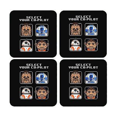 Porta Copos Star Wars - Chewbacca e R2-D2