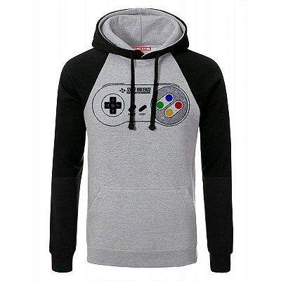 Blusa com Capuz Controle Super Nintendo