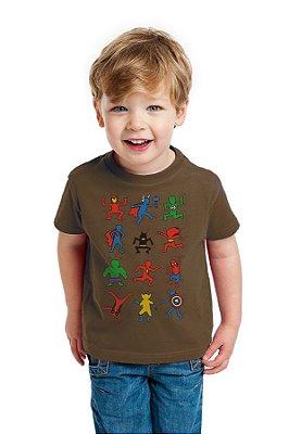 Camiseta Infantil Heróis
