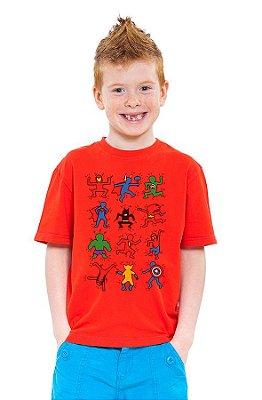 Camiseta Infantil Diversos Heróis